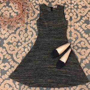 LOFT Teal SharkskinSleeveless Dress